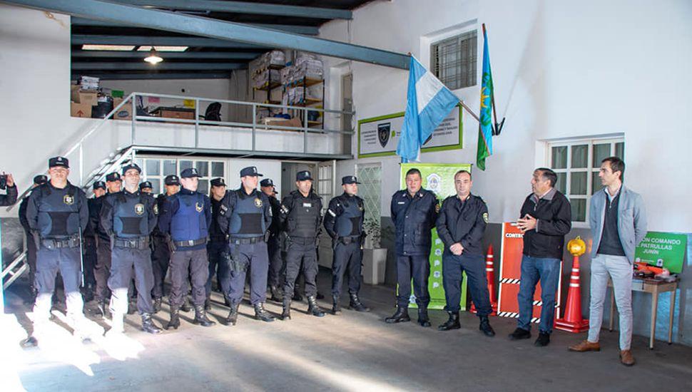 Se incorporaron 19 policías egresados recientemente.