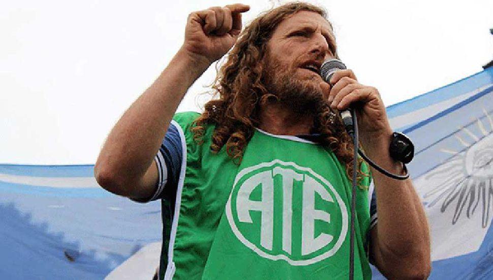 Protesta de estatales  bonaerenses de ATE