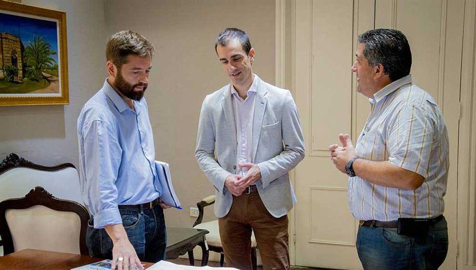 Pablo Petrecca se reunió con los representantes de la empresa EDEN de Junín.