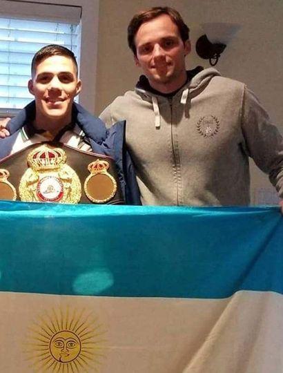 Matías Erbín (derecha) cuando trabajó con Brian Castaño, único campeón mundial que tiene en estos momentos nuestro país.