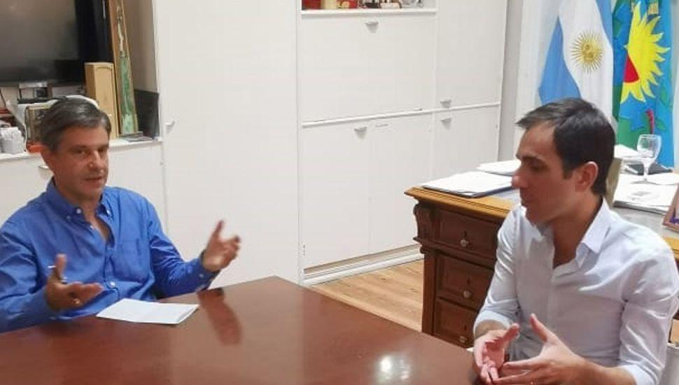 Franco Moccia, presidente de la Fundación Pensar, mantuvo un encuentro con el intendente Pablo Petrecca.