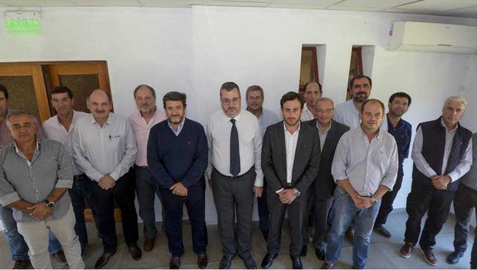 Autoridades presentes en la Subsecretaría de Infraestructura Hidráulica.