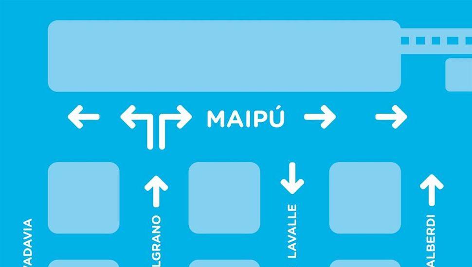 Cambios en la circulación sobre calle Maipú