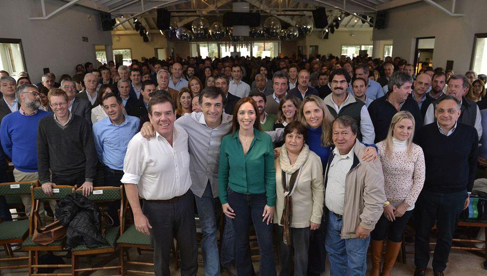 María Eugenia Vidal y sus candidatos tuvieron un encuentro en el que se bajó línea discursiva para la campaña .