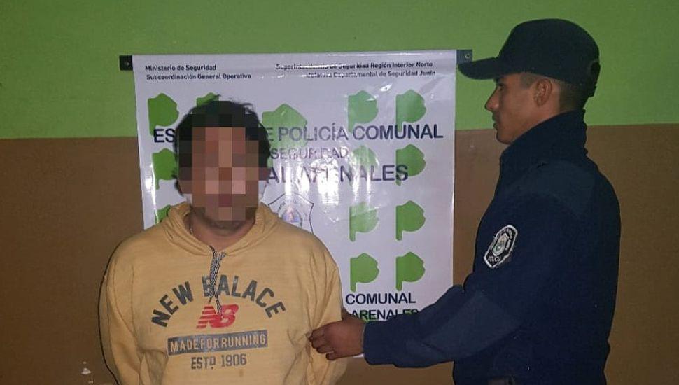 Detuvieron a un hombre de 44 años en Arenales