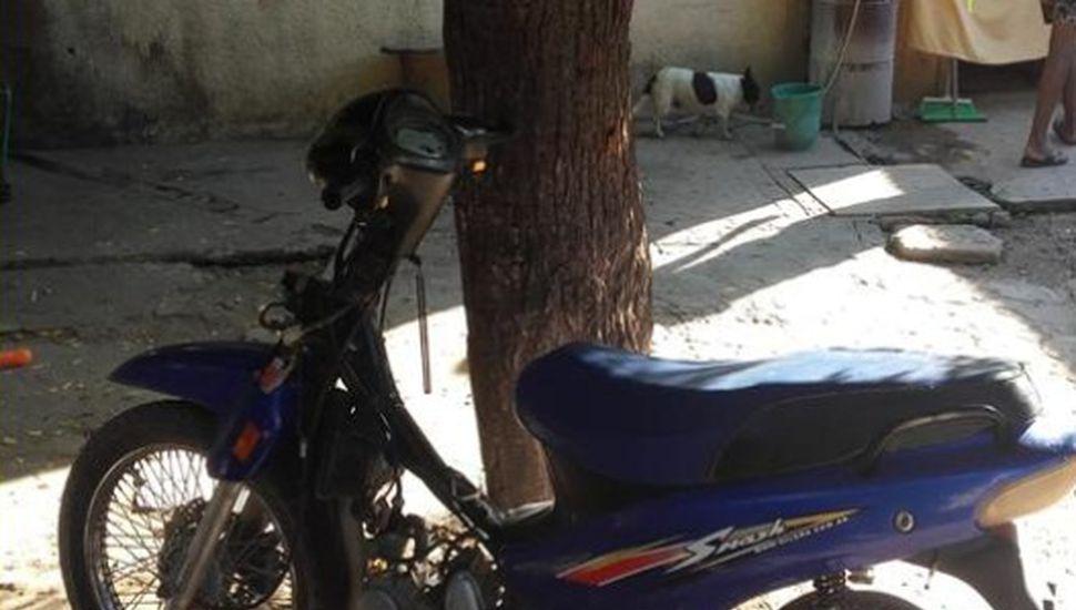 Secuestran una moto que había sido robada en 2017