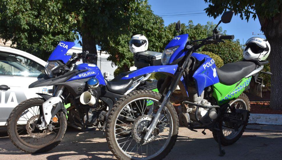 Arenales incorporó dos motos para policías del distrito
