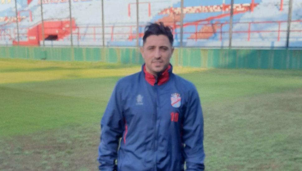 Pablo Álvarez, en el entrenamiento de ayer.