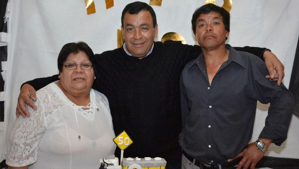 Aldo Montes cumplió 50 años y festejó