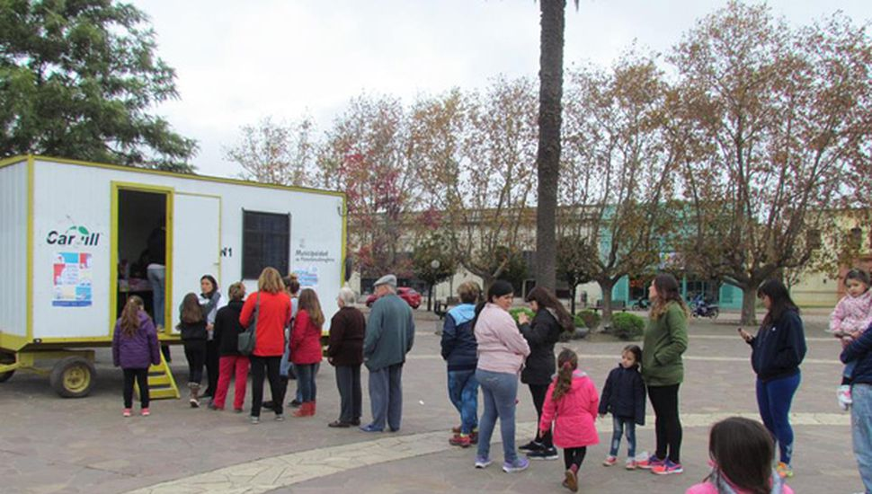 Vacunaron a casi 400 personas en la plaza