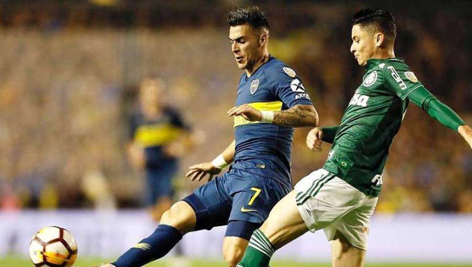 Cristian Pavón, titular en Boca.