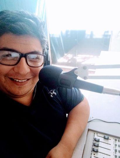 """""""Chavo"""" López, locutor aficionado y actor de doblaje."""