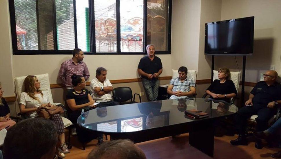 Reunión de la mesa local de emergencia sanitaria.
