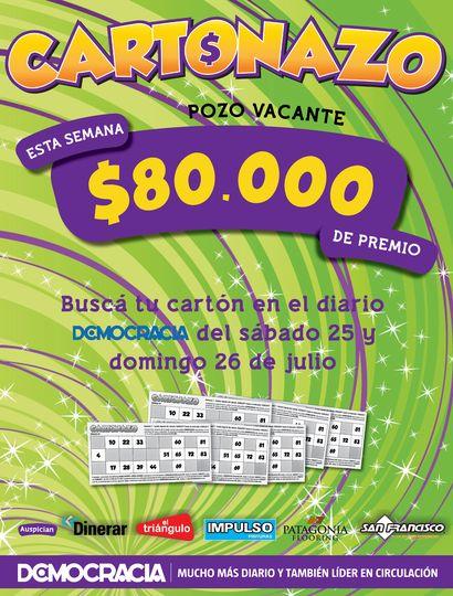 Cartonazo: el pozo es de 80 mil pesos