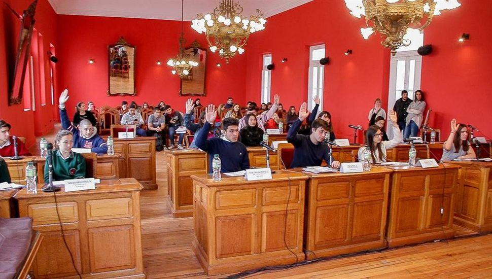 Sesionó el Concejo Deliberante Estudiantil.