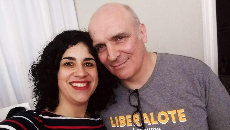 Eliana Scialabba junto a Luis Espert.