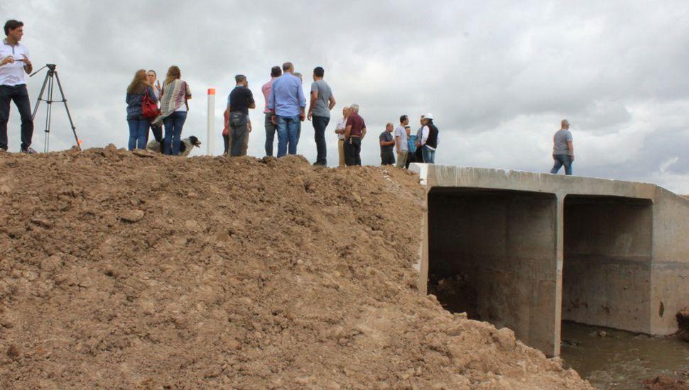 Quedó inaugurado el puente del camino 75 en Hunter