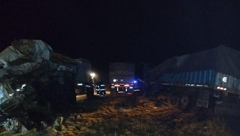 Fatal choque de camiones en la Ruta Provincial 50