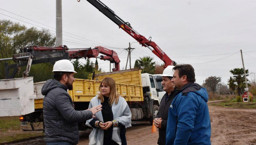 Ponen en marcha un nuevo alimentador eléctrico en Arribeños