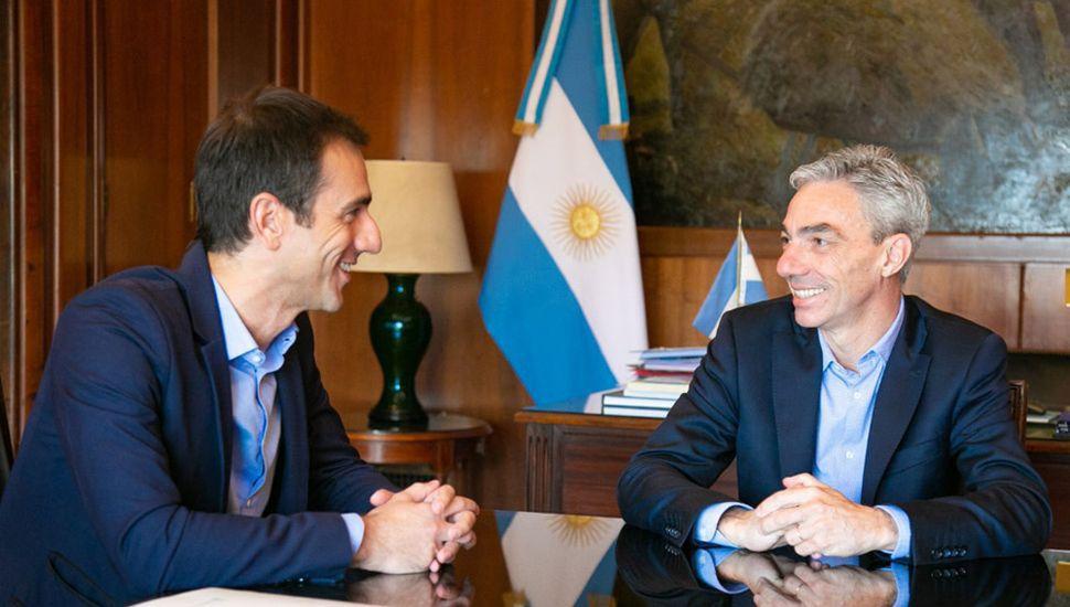 Petrecca y Meoni abordaron distintos temas, entre ellos, el subsidio del boleto de los colectivos.