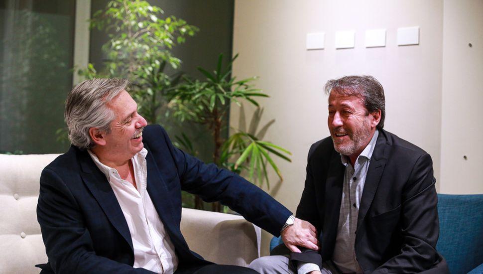 Alberto Fernández y Patricio García.