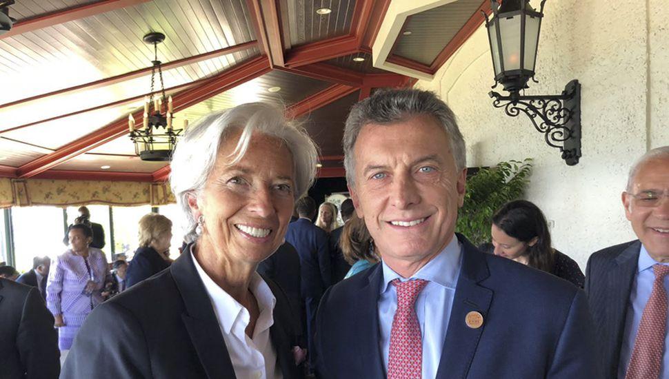 Mauricio Macri tuvo su foto formal con la titular del FMI, Christine Legarde.