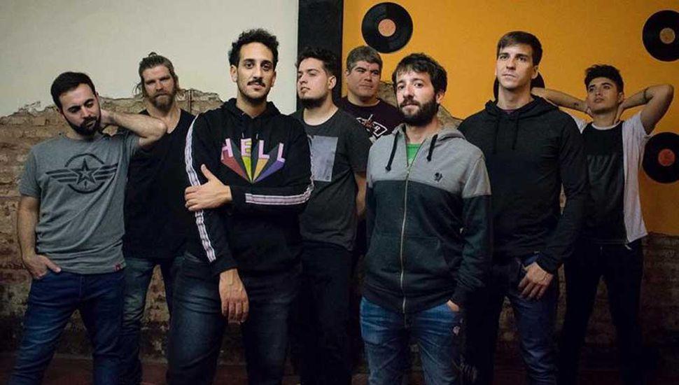 """Fisurado y Paranoico, banda de rock local que estará en el cierre del domingo, previo a su actuación en el """"Cosquín Rock"""", que será el 10 de febrero."""