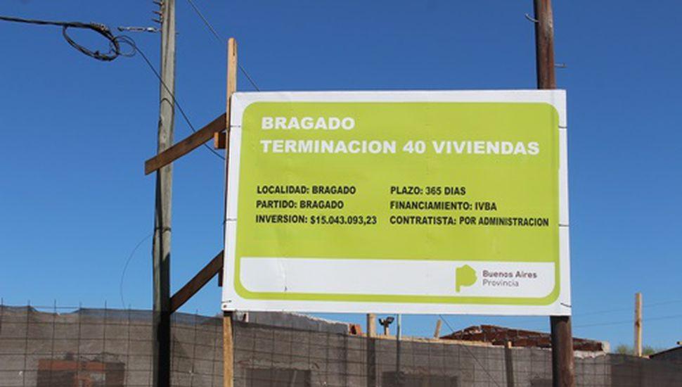 Terminarán 116 viviendas sociales en Bragado y O´Brien