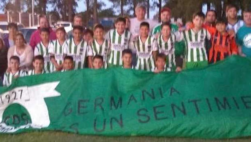 Séptima de Sportivo Sarmiento de Germania que buscará mañana coronarse campeona.