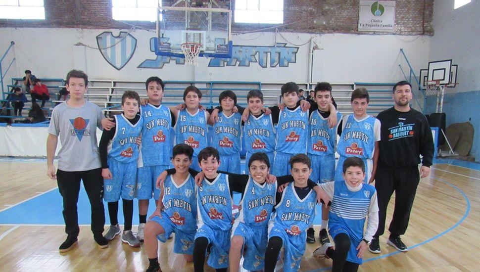 Plantel de San Martín, tercero en el campeonato Apertura U13.