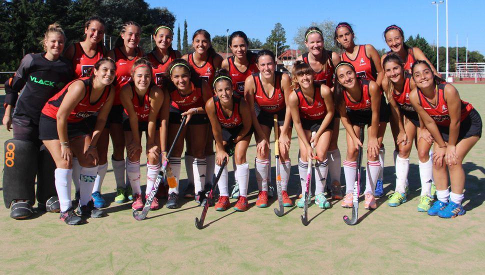 Uno de los equipos de hockey que representará a Los Miuras, ante Gimnasia y Esgrima de Pergamino.
