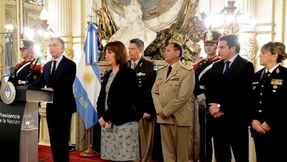 """Macri mostró """"orgullo""""  y """"admiración"""" por las Fuerzas de Seguridad"""