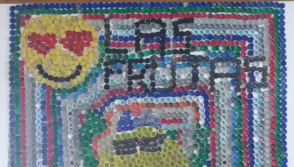 El mural presentado por los alumnos.