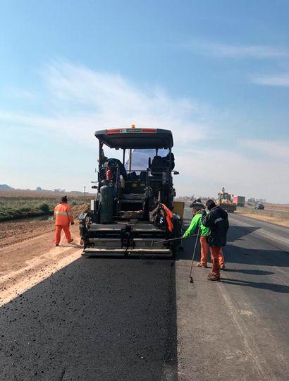 En los próximos días finalizará la pavimentación.