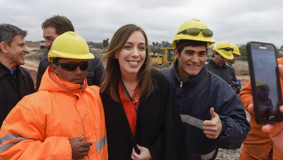 María Eugenia Vidal, en franca recorrida de campaña electoral, seguirá buscando votos en distritos del Conurbano.