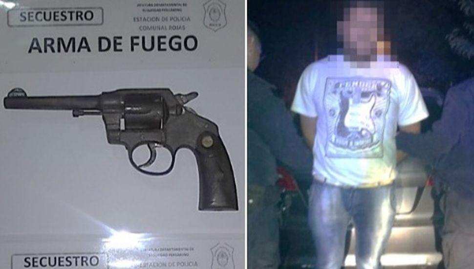 Un aprehendido en Rojas por tenencia ilegal de arma de fuego