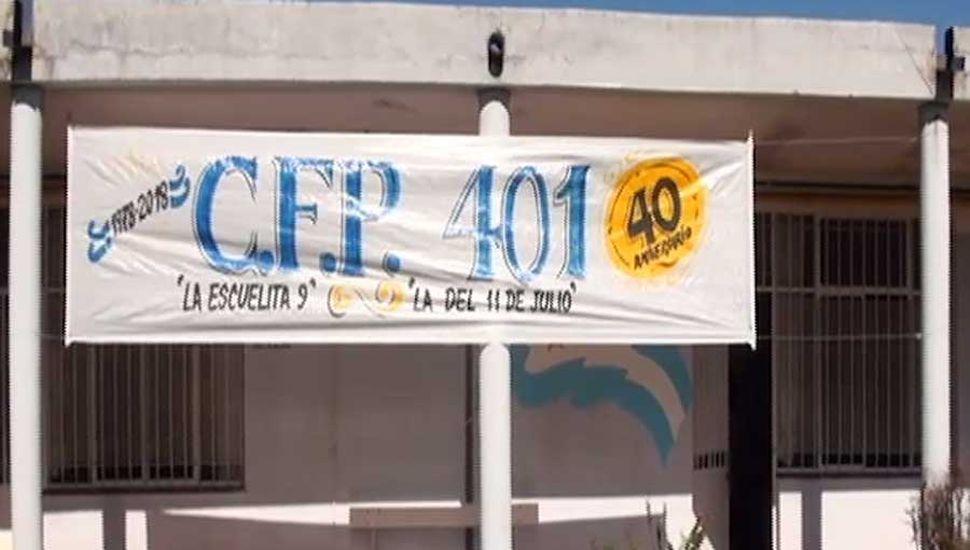 El C.F.P 401 tiene su sede en terrenos de la sociedad de Fomento del barrio 11 de Julio..