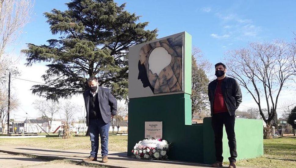 El Partido Justicialista homenajeó a Evita en su plaza.