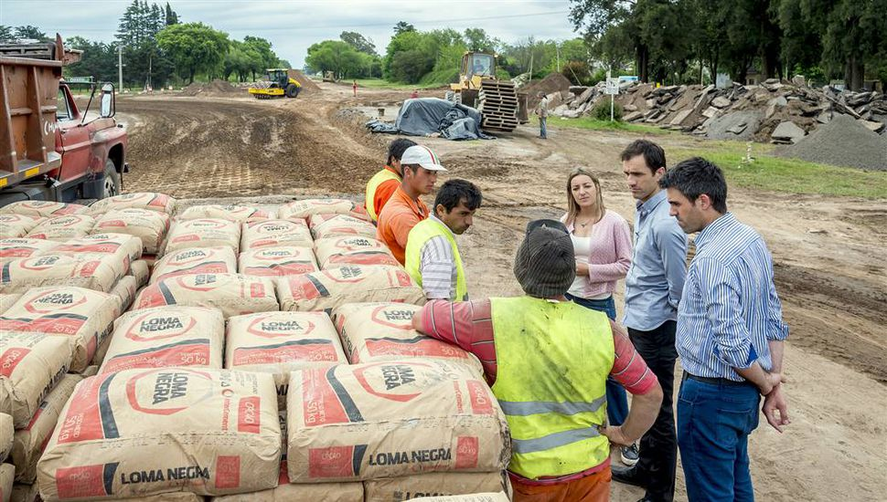 Comenzaron los trabajos para la construcción de la rotonda en Circunvalación y Alvear
