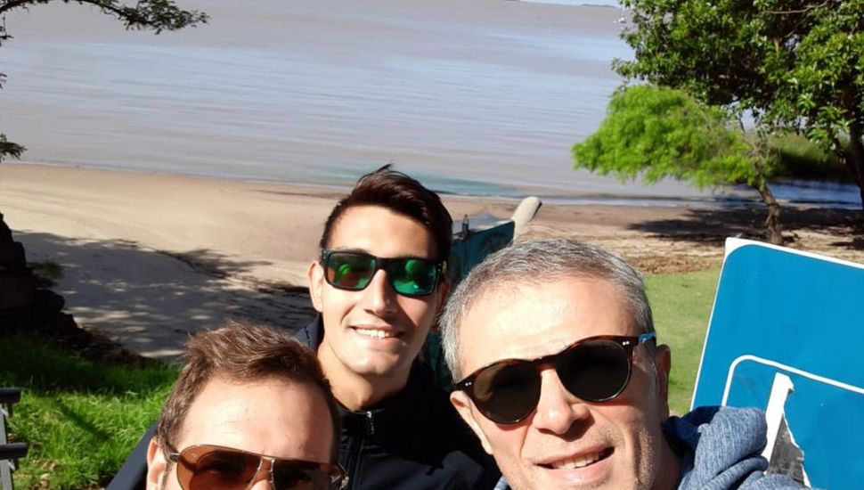 Los bragadenses Matías Calisti, José Viotti y Fernando Giusio.