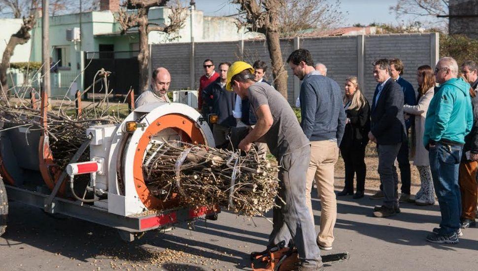 Viamonte fue destacado por su proyecto ambiental de poda