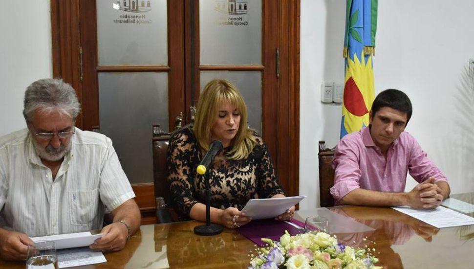 Erica Revilla encabezó la apertura de sesiones en el Concejo Deliberante