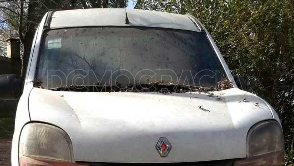 Renault Kangoo que tenía numero de chasis suprimido.