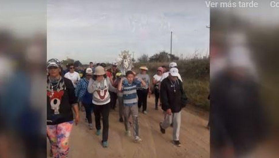 Peregrinos de Rojas vivieron una inolvidable experiencia en Luján