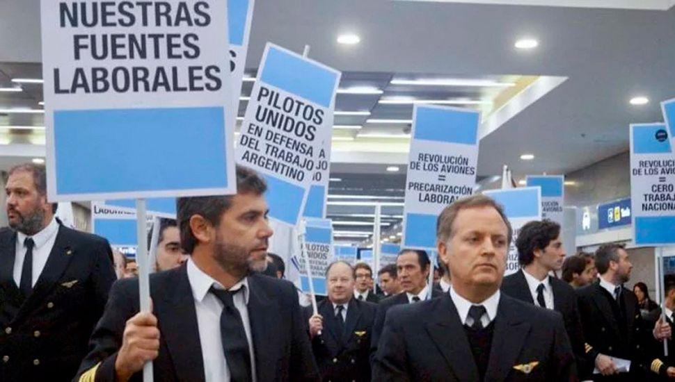 Paro pese a conciliación obligatoria para pilotos de Aerolíneas Argentinas