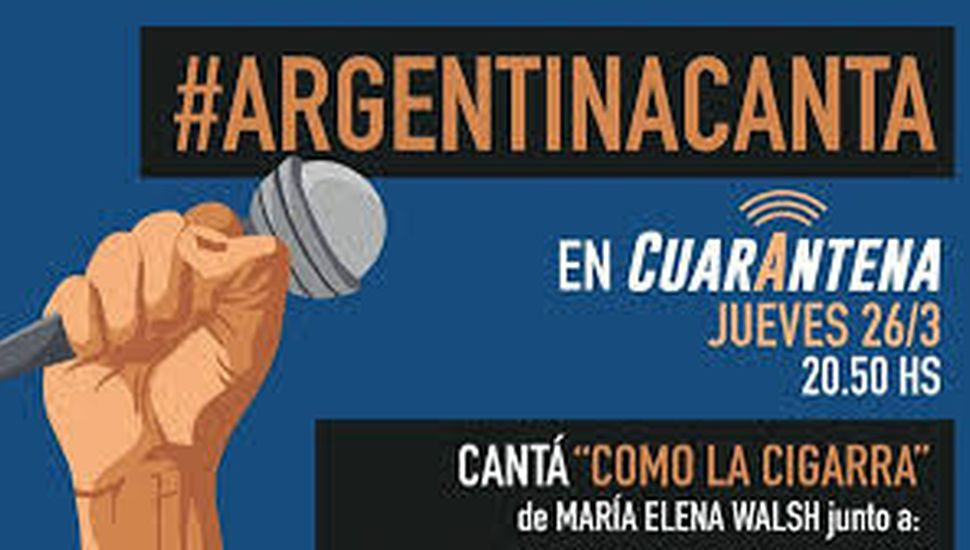 #ArgentinaCanta: más de 30 artistas unidos contra el coronavirus