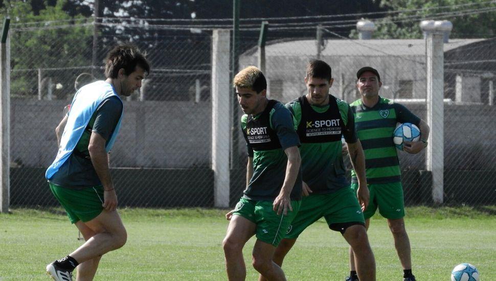 Garnier, Fornari y Gabriel Graciani, en Ciudad Deportiva.