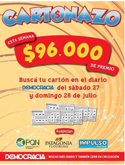 Cartonazo: el pozo subió y esta semana hay 96 mil pesos en efectivo