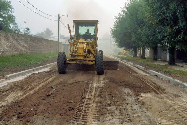Obras en barrio Progreso de Rojas