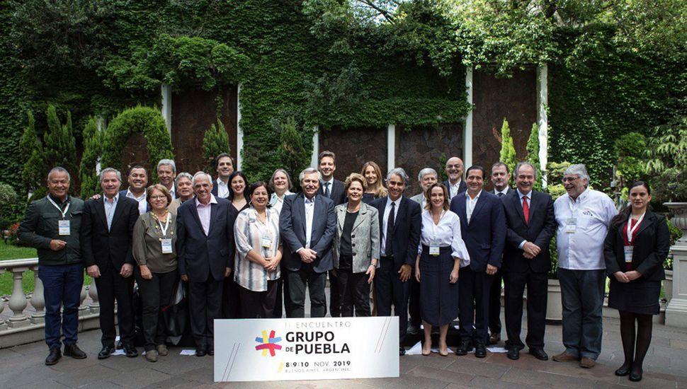 El presidente electo, Alberto Fernández, lideró el encuentro con los representantes del Grupo de Puebla.